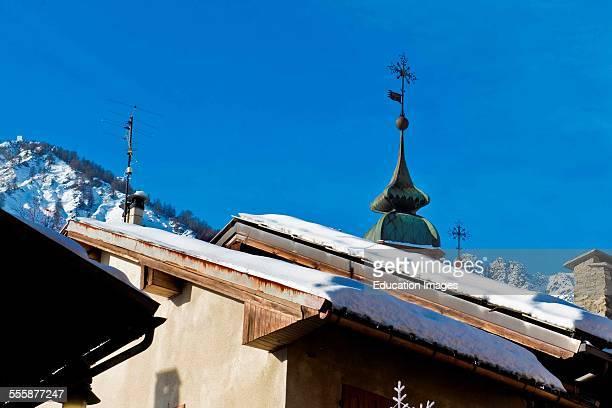 Old Town Bardonecchia Turin Province Piedmont Italy