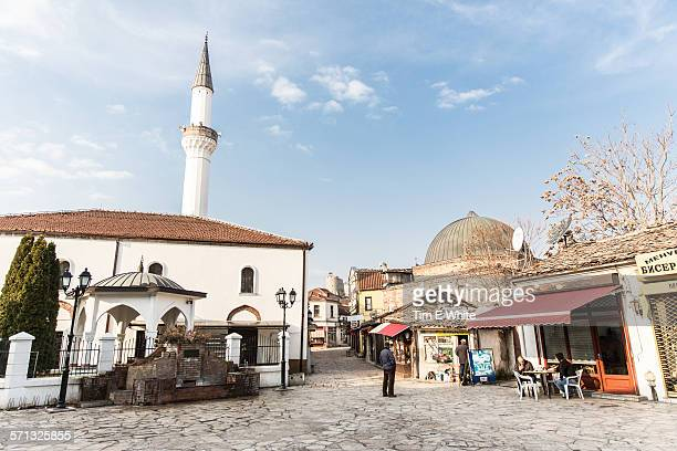 old town bazaar, skopje, macedonia - skopje stock pictures, royalty-free photos & images
