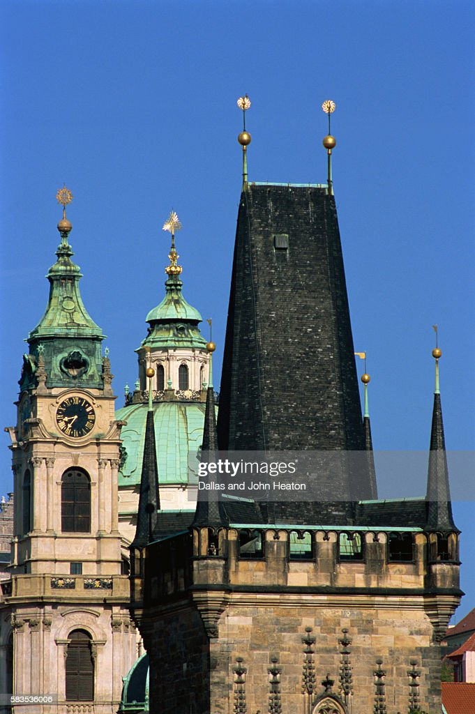 Old Town, Charles Street Bridge, West Tower, Prague, Czech Republic : Stock Photo