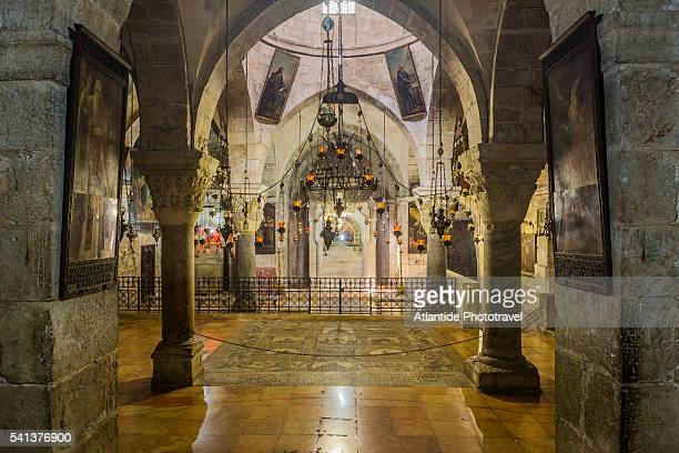 old town, christian quarter, church of the holy sepulchre (also called the basilica of the holy sepulchre), the chapel of st. helen - 聖墳墓教会 ストックフォトと画像