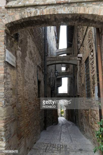 Old Town. Conservatory alley. Montefalco. Umbria. Italy. Europe.