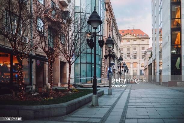ベオグラードの旧市街ヨーロッパの建築 - セルビア ベオグラード ストックフォトと画像