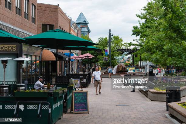old town fort collins, colorado - fort collins stock pictures, royalty-free photos & images