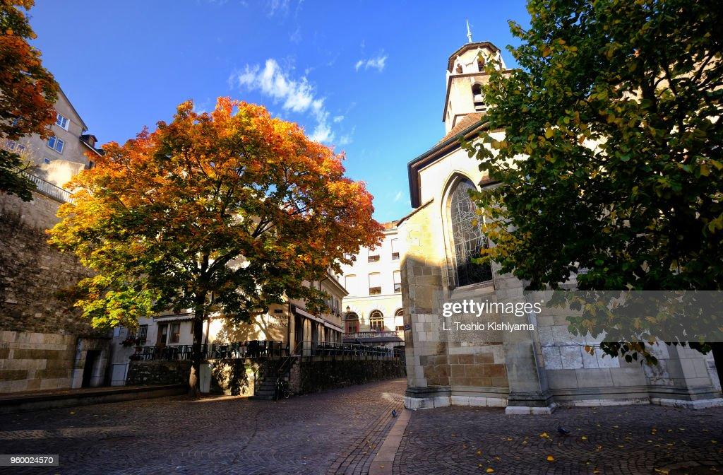 Old Town Geneva, Switzerland : Stock-Foto