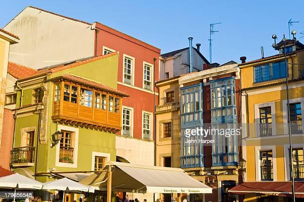 old town,  gijon, asturias, spain - ヒホン ストックフォトと画像