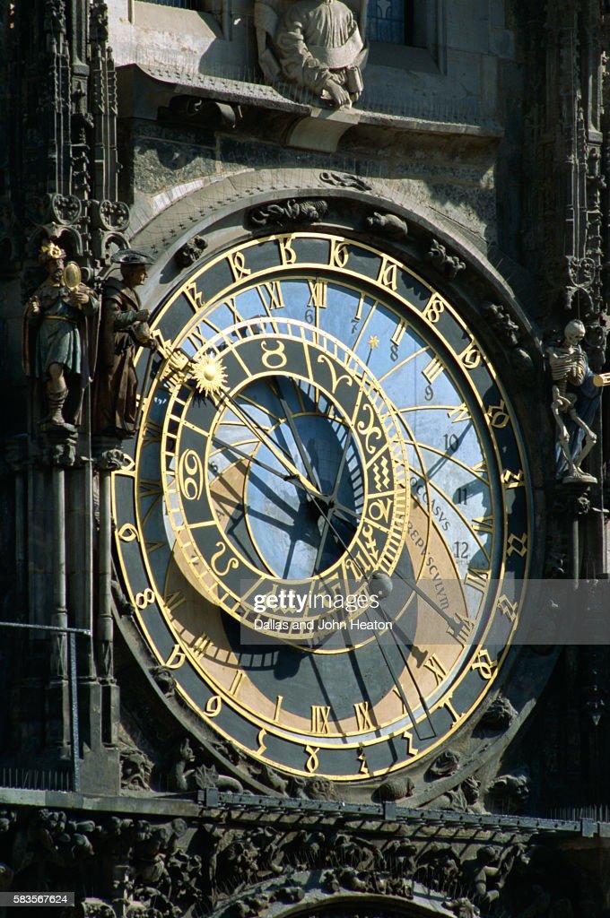 Old Town Hall Astronomical Clock, Prague, Czech Republic : Stock Photo