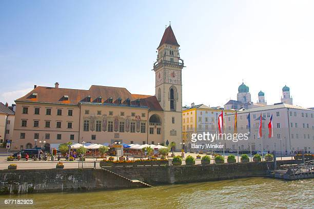 Old Town Hall at Danube River in Passau, Germany
