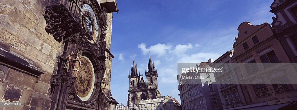 Old Town Hall Clock, Prague, Czech Republic : Stock Photo