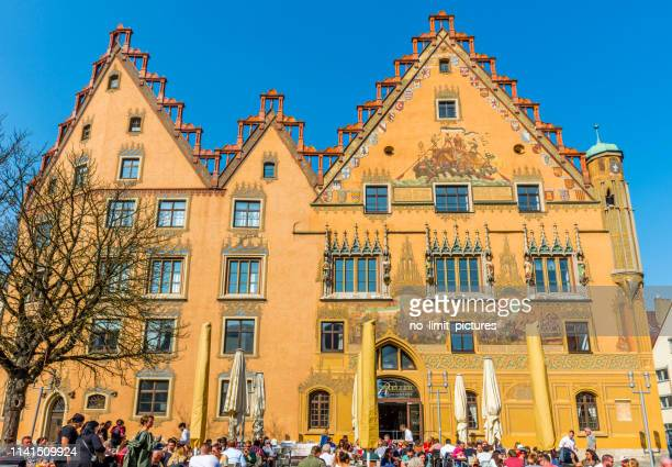 old town hall in ulm in germany - ulm stock pictures, royalty-free photos & images