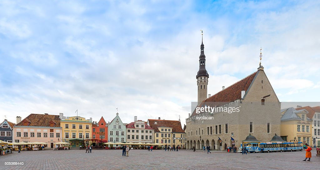 Old town hall of Tallinn, Estonia : Bildbanksbilder
