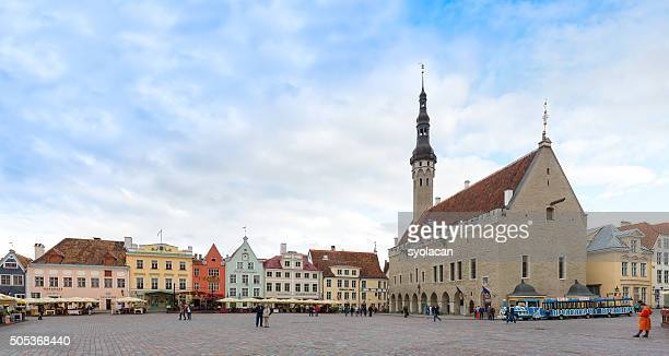 old town hall of tallinn, estonia - syolacan stock pictures, royalty-free photos & images