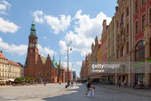 old town hall of wroclaw - gwengoat stock pictures, royalty-free photos & images
