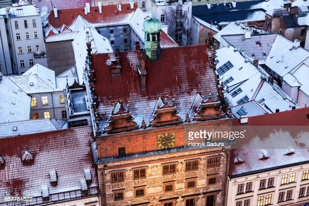 old town hall on republic square in pilsen - plzeň stock pictures, royalty-free photos & images