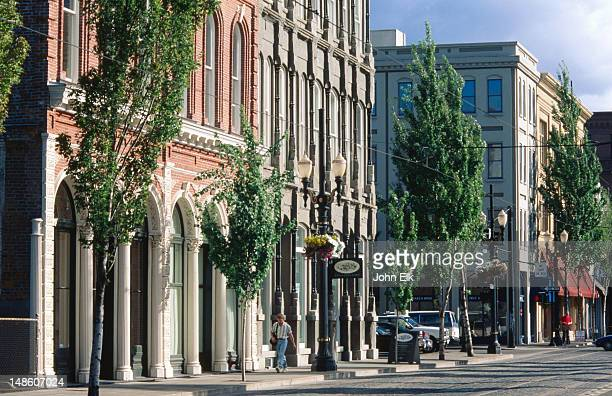 old town historic district. - portland oregon stock pictures, royalty-free photos & images