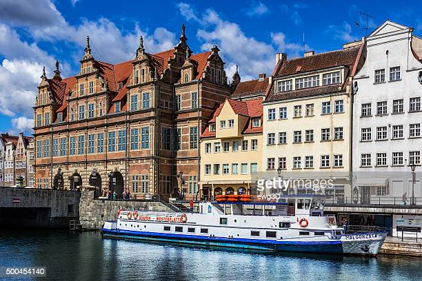 old town in gdansk, poland - motlawa river stock pictures, royalty-free photos & images