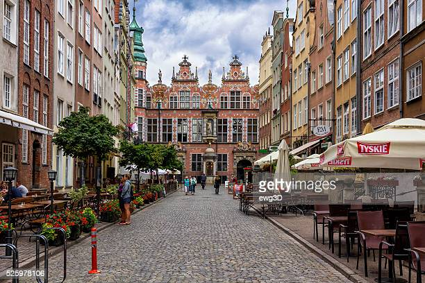 old town in gdansk, poland - pomorskie province stock photos and pictures