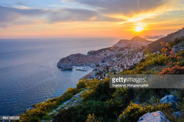old town in the city walls of dubrovnik - adriatic sea stock pictures, royalty-free photos & images