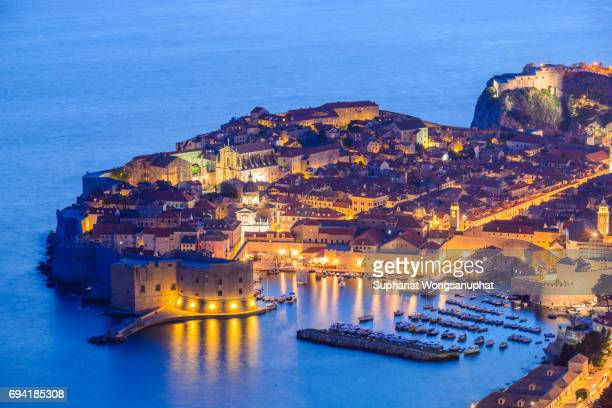 Old town in the city walls of Dubrovnik
