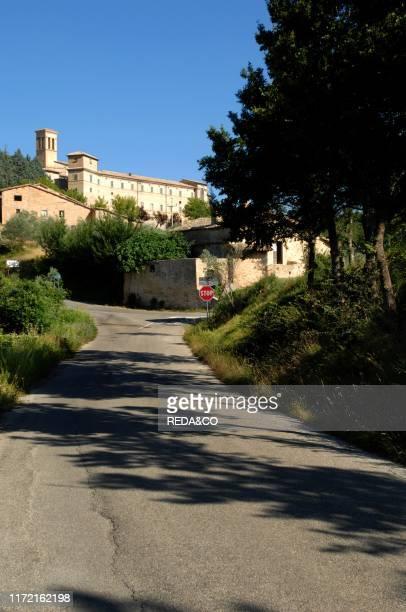 Old town, Montefalco, Umbria, Italy, Europe.