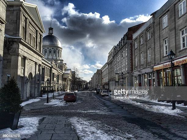 Old Town Montreal Canada in the winter