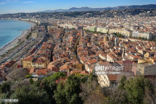 old town, nice, côte d'azur, france - france stock pictures, royalty-free photos & images