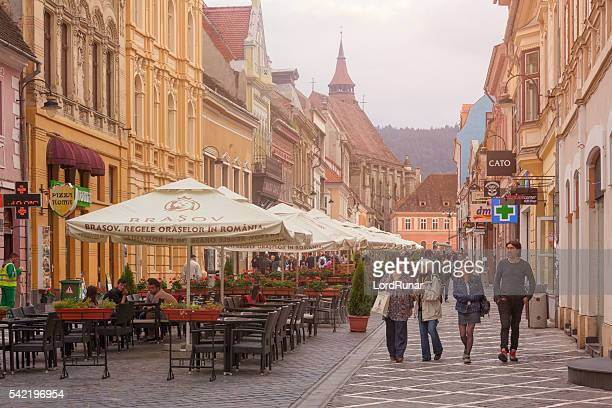 old town of brasov, transylvania - transylvania stock pictures, royalty-free photos & images