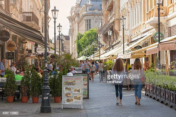 old town of bucharest - bucharest stock pictures, royalty-free photos & images