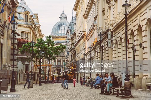 Bucharest Town Editorial Image Image Of Bucharest: Old Town Of Bucharest Romania High-Res Stock Photo