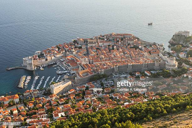 Old town of Dubrovnik viewed from above