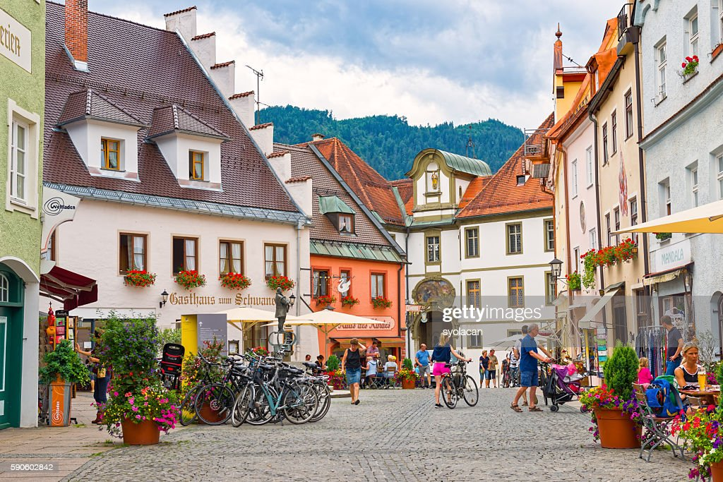 Old town of Fussen : Stock Photo