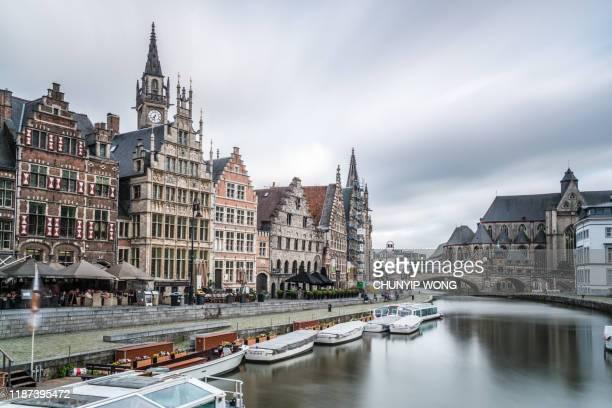 ヘントの旧市街(ベルギー) - フランダース ストックフォトと画像