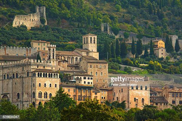 old town of gubbio in italy - gubbio stock pictures, royalty-free photos & images