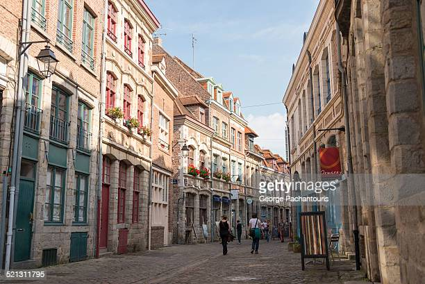 old town of lille, france - france lille stock pictures, royalty-free photos & images