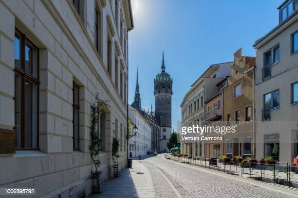 old town of lutherstadt wittenberg, germany - saxony anhalt stock pictures, royalty-free photos & images