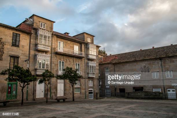 old town of pontevedra - galicia stock pictures, royalty-free photos & images