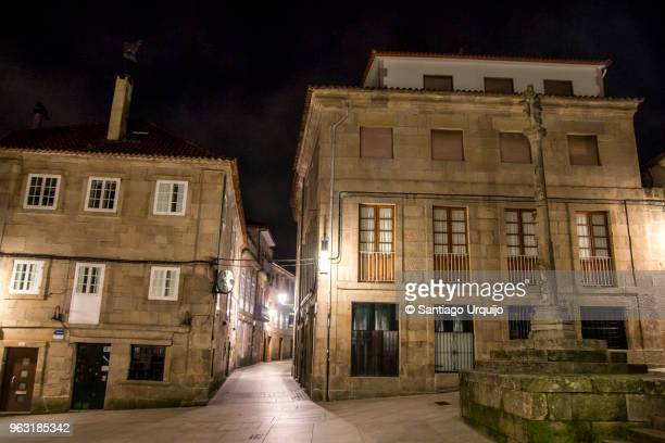 old town of pontevedra - pontevedra province stock photos and pictures