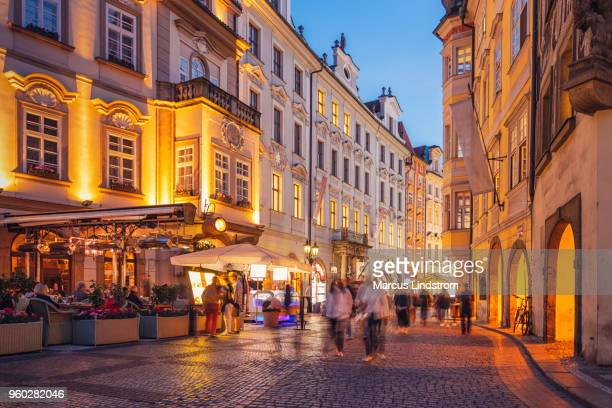 old town of prague, czech republic - pedestrian zone stock pictures, royalty-free photos & images