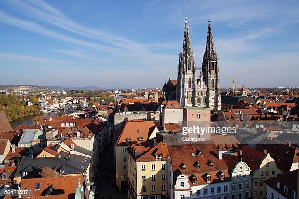 old town of regensburg (unesco world heritage) - regensburg stock pictures, royalty-free photos & images