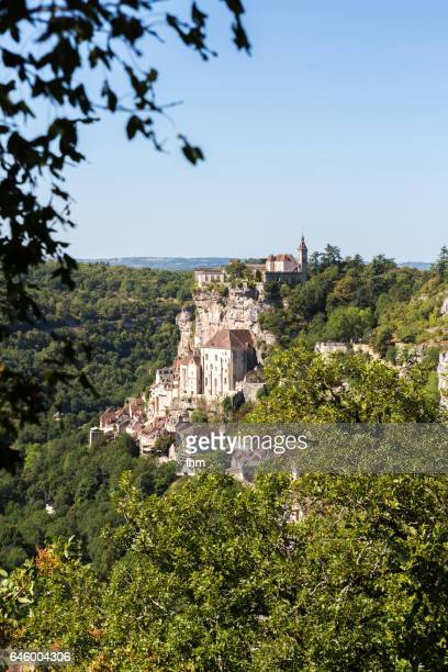 old town of rocamadour - famous historic city in southwest france - rocamadour stock pictures, royalty-free photos & images