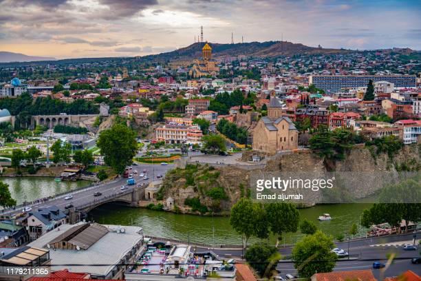 old town of tbilisi, georgia - トビリシ ストックフォトと画像