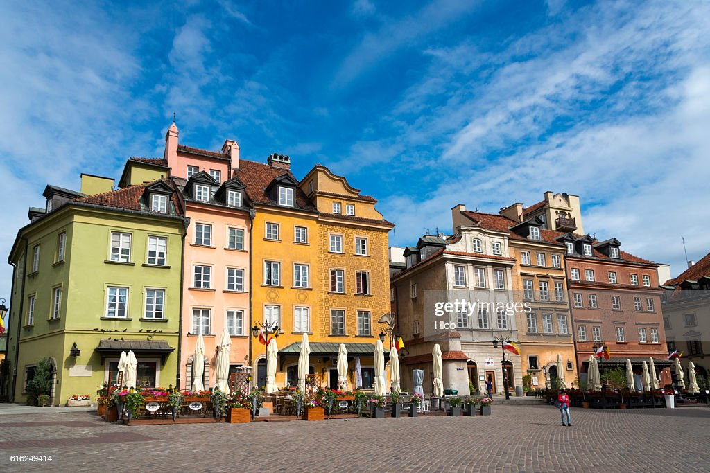 Old Town of Warsaw : Stock Photo