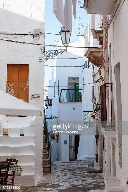 old town,  ostuni (the white town), apulia, italy - ostuni stock photos and pictures