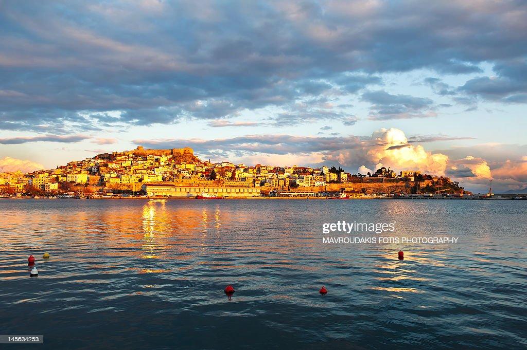 Old town peninsula during sunset : Stock Photo
