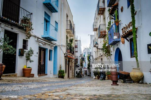 old town peniscola spain - finn bjurvoll stock pictures, royalty-free photos & images