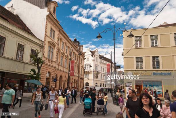 old town - sibiu stock photos and pictures