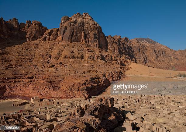 Old town rock carvings in Al Ula Saudi Arabia on January 18 2010 AlUla town is located in the northwestern part of the Kingdom of Saudi Arabia...