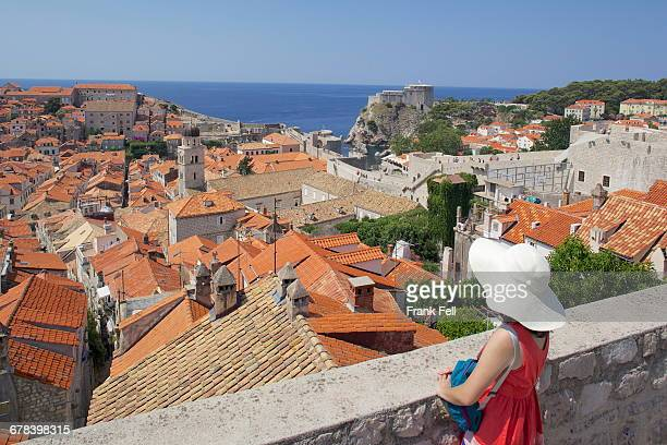 Old Town rooftops, UNESCO World Heritage Site, Dubrovnik, Dalmatian Coast, Croatia, Europe