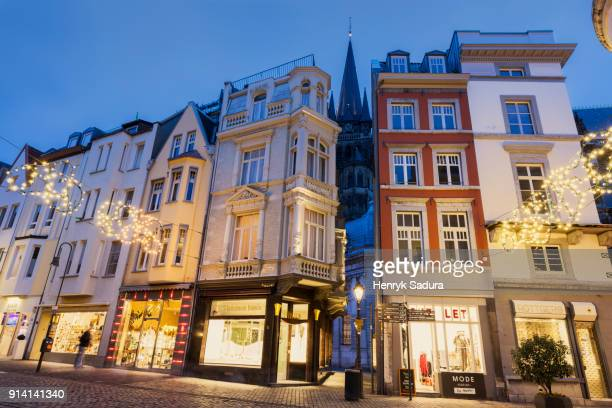 old town square in aachen - aachen stock pictures, royalty-free photos & images