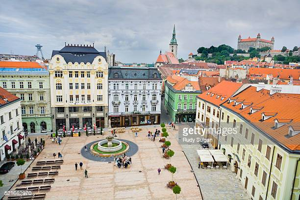 old town square in bratislava - bratislava stock pictures, royalty-free photos & images