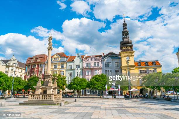 old town square/ masaryk square in ostrava and museum building, ostrava, czech republic, europe - ostrava stock pictures, royalty-free photos & images